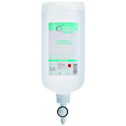 Hånddesinfektion flydende, Derma Helse, flydende, til ståldispenser, 1000 ml,