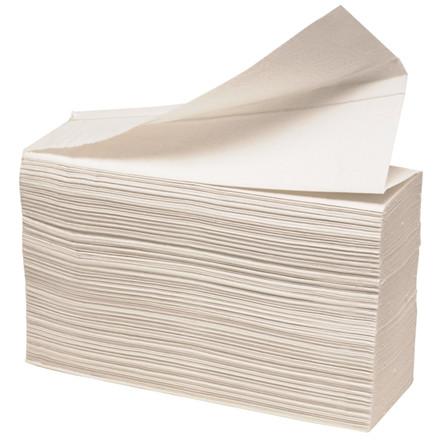 Håndklædeark 2-lags hvid Bredde 20,30 - Længde 24 x 8 cm