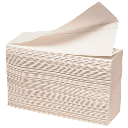 Håndklædeark, 2-lags, Z-fold, 24x20cm, 8 cm, hvid, blandingsfibre