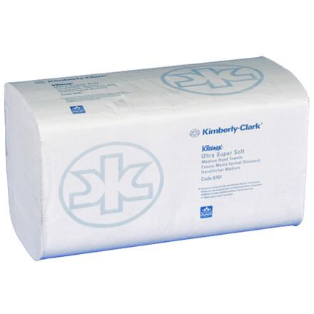 Håndklædeark Kleenex 3-lags hvid Bredde 21,5 cm | Længde 31,5 x 10,5 cm