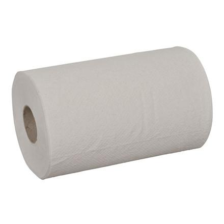Håndklæderulle 1-lags med hylse natur mini 19,5 cm   120 meter