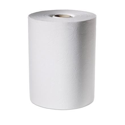 Håndklæderulle, Tork, hvid, 2-lags, med hylse, 24,70cm x 143 m,