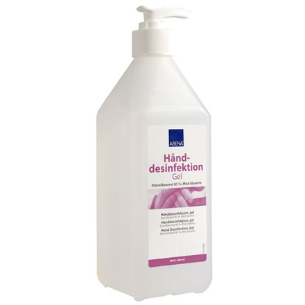Håndsprit gel med pumpe Abena 85% alkohol - 600 ml