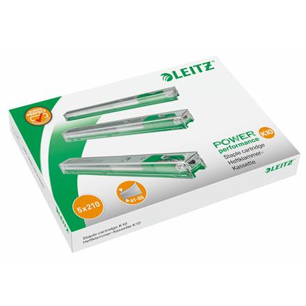 Hæfteklammekassetter i grøn Leitz - 10 mm 5 x 210 stk i æsken