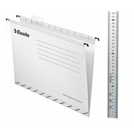 Hængemapper Esselte Classic A4 hvid - 25 stk. pr. pakke