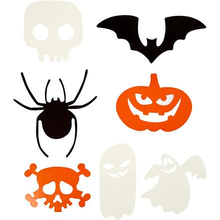 Halloween figurer størrelse 5-10 cm 180 gram   50 stk.