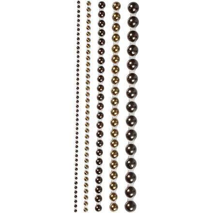 Halv-perler, str. 2-8 mm, brun, Oslo, 140ass.