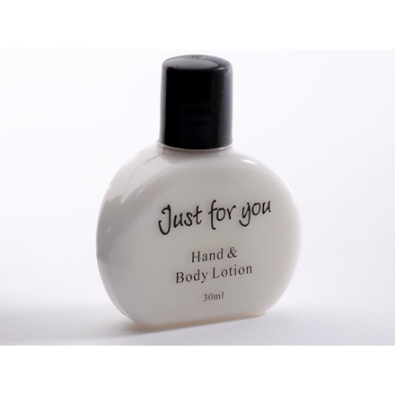 """Hotelsæbe Hand & Body Lotion """"Just For You"""" 30 ml flaske - 100 stk"""