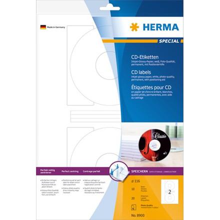 HERMA Herma etiket Special CD ø116 Inkjet (20)