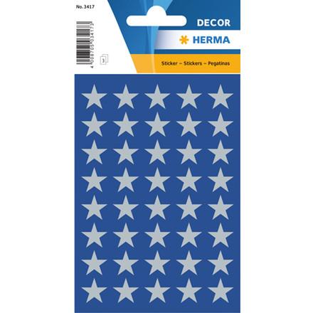 HERMA Herma stickers Decor stjerner ø13 sølv (3)