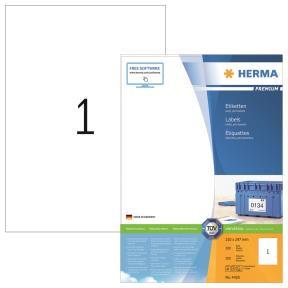 HERMA Labels white 210x297 Herma Premium A4 100 pcs.