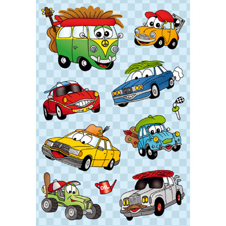 HERMA Magic Stickers funny cars moving-eyes