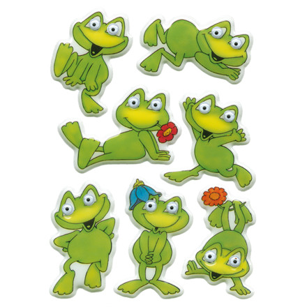 HERMA Magic Stickers funny frogs, moving eyes 1 sh.