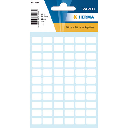 HERMA Multi-purpose labels Herma 8x12mm white 462 pcs.