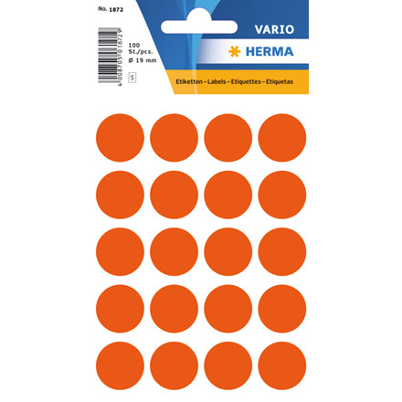 HERMA Multi-purpose labels Herma ø 19mm red 100 pcs.