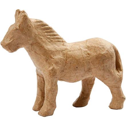 Hest papmaché   Højde 12 cm