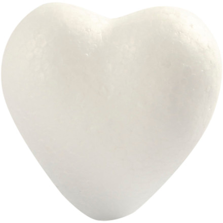 Hjerte i styropor Højde 6 cm - 5 stk