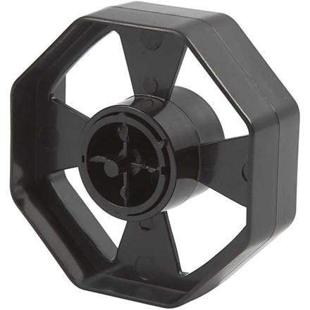 Hjul til borddispenser, dia. 7,5 cm, B: 25 mm, maxi, 1stk.