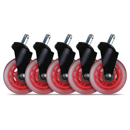 Hjul t/L33T gaming stol røde bløde 5stk/pak