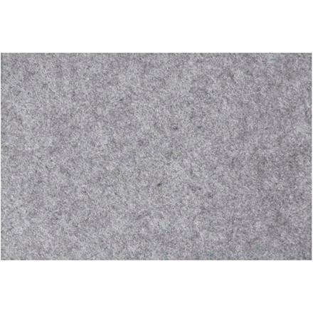 Hobbyfilt ark 42 x 60 cm tykkelse 3 mm - grå