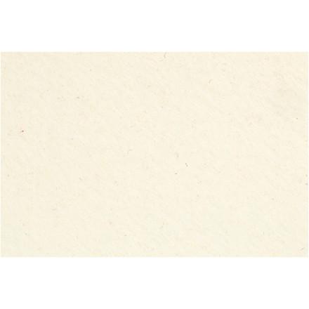 Hobbyfilt ark 42 x 60 cm tykkelse 3 mm | råhvid