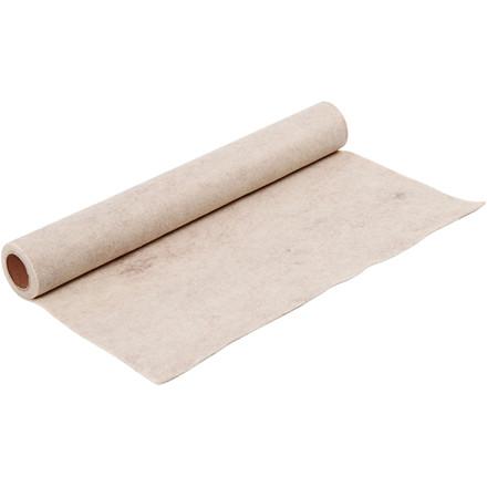 Hobbyfilt bredde 45 cm tykkelse 1,5 mm råhvid | meleret 1 meter