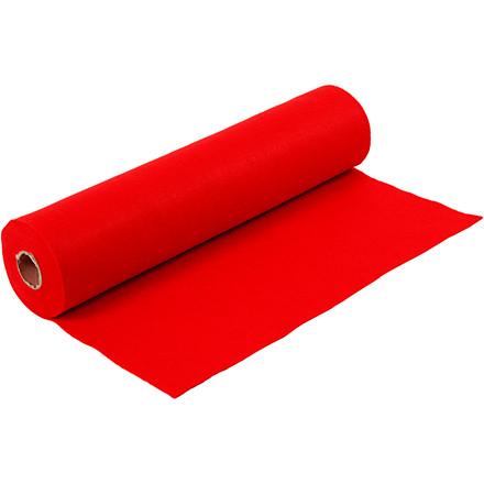 Hobbyfilt Bredde 45 cm tykkelse 1,5 mm rød - 5 meter
