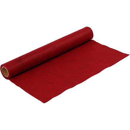 Hobbyfilt rød meleret bredde 45 cm tykkelse 1,5 mm - 1 meter