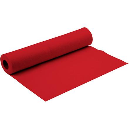 Hobbyfilt bredde 90 cm tykkelse 1,5 mm rød | 5 meter