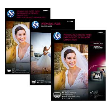 HP - Premium Plus glossy Foto papir 10 x 15 cm 300 gram - 50 ark
