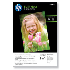 HP fotopapir - Everyday Glossy 10x15 cm 200g - 100 ark