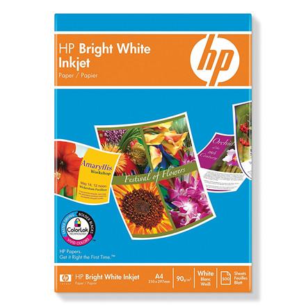 HP - A4 Bright White Inkjet Foto papir 90 gram - 500 ark