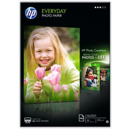 HP - A4 Everyday Glossy Foto papir 200 gram - 100 ark