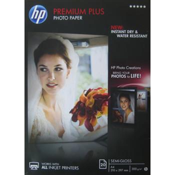 HP - A4 Premium Plus semi-gloss Foto papir 300 gram - 20 ark