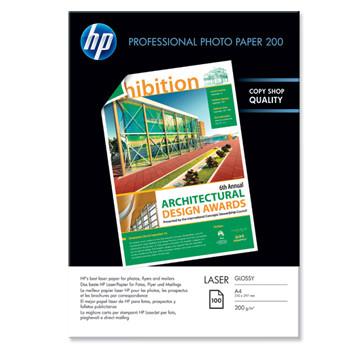 HP - A4 Professional glossy laser Foto papir 200 gram - 100 ark