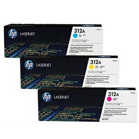 HP Color laserjet 312A  CMY toner cartridgestri-pack