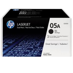HP LaserJet 05A black 2-pack toner cartridge (CE505D)