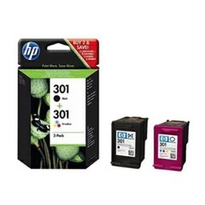 HP No301 black & color ink cartridges (sampack)blister
