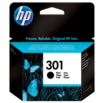 HP No301 black ink cartridge, blistered
