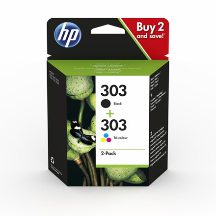 HP No303 black ink cartridge combo 2-pack blistered