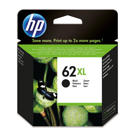 HP 62 XL Sort blækpatron - C2P05AE