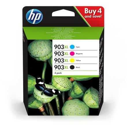 HP No903XL High Yield C/M/Y/K Ink Cartridge