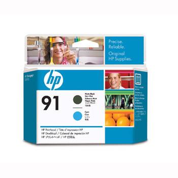 HP No91 matte black & cyan printhead