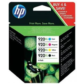 HP No920 XL CMYK ink cartridge, combo pack