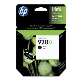 HP No920 XL officejet black ink cartridgeblistered