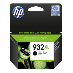HP No932 XL black ink cartridge, blistered