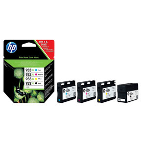 HP No932 XL black/933 XL CMY ink cartrides 4-pack