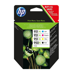 HP 950XL - 951XL Combo-pack ink i blister BK+C+M+Y - Original HP C2P43AE-BL