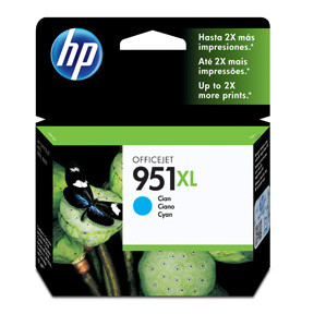 HP No951 XL cyan ink cartridge, blistered