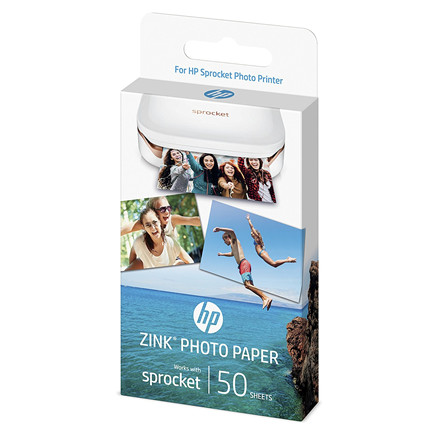 HP ZINK Sticky-Backed Photo Paper 50x76mm (50)